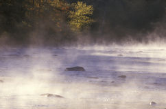 Housatonic River with Morning Mist, Connecticut Royalty Free Stock Image