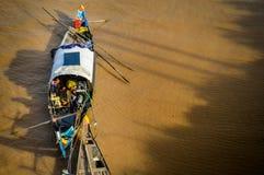Housboots du Mékong Photographie stock libre de droits