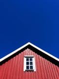 house övre trä för rött tak Royaltyfria Bilder