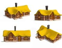 house średniowieczne chata ilustracja wektor