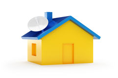 House. Antena house on a white background Stock Images