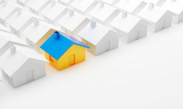 House. On a white background Royalty Free Stock Image