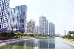 House. River high-rise, China Nanchang Stock Photo