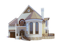 House. On the white background Stock Photography