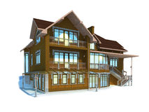 House. On the white background Royalty Free Stock Images