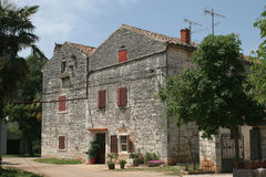 House. A typical little old village in the Istria, Croatia Stock Images