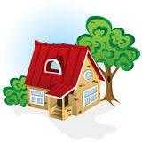 House. Vector illustration of county hose Royalty Free Stock Image