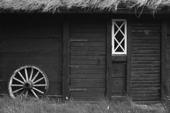House. Home and wheel from gotland stock images