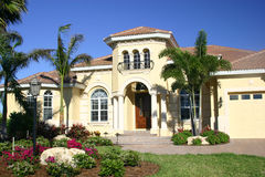 House. Stately new home in tropics stock photo