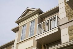 House. A newly built upscale townhouse Royalty Free Stock Images