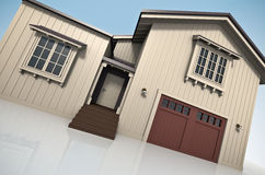 House. 3D rendered image of large house Stock Images