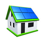 House. An image of a nice house with solar planels Royalty Free Stock Photos