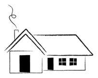 House. Simple house logo vector illustraion Stock Photography