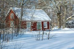 House. In the winter forest Royalty Free Stock Photos