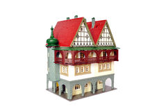 House. Model of the building insulated on white background Stock Photo