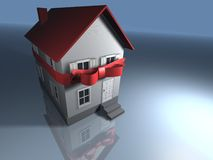 House. With bow - 3d render Stock Photo