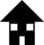 House. Illustration of a simple silhouetted house Royalty Free Stock Photography