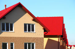 House. With a roof made of tiles stock photos
