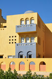 House. Street in Hurghada. Stylization in Arabic style royalty free stock photography
