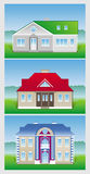 House. Three  image icons - new house Royalty Free Stock Photos
