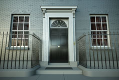 House. British house. 3D rendered image Royalty Free Stock Images