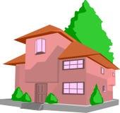 House. Illustration of big house on white background Royalty Free Stock Photography