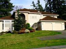 House. A beautiful house in the pacific northwest Stock Photography