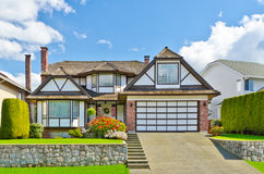 A House. Luxury house in Vancouver, Canada Royalty Free Stock Photos