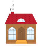 House. Architecture. house clipart illustration .house to be used as a symbol or icon Stock Images