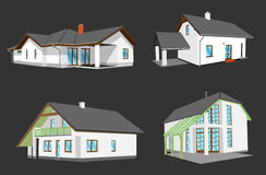 House. Manually redrawn images home tio vector stock illustration
