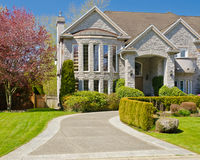 A House. Luxury house in Vancouver, Canada Royalty Free Stock Photography