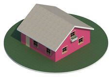 House. 3d render of a simple and small house Royalty Free Stock Photo
