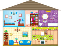House. Vector illustration, color full, no gradient Royalty Free Stock Image
