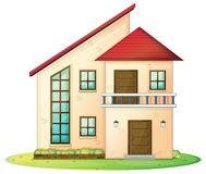 House. Illustration of a house on a white background Royalty Free Stock Image