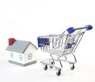 House. Delivery service from shop to home stock image
