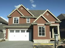 House. New house under construction in Chilliwack, BC stock photo
