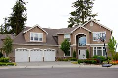 House. A luxury house in the pacific northwest Royalty Free Stock Photos