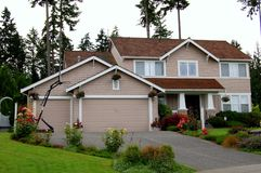 House. A luxury house in the pacific northwest Royalty Free Stock Photo