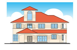 House. Design in vector, illustration Royalty Free Stock Image