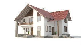House. Modern house on white background Royalty Free Stock Photography