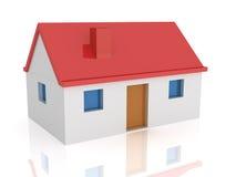 House 3d. 3d render of a house. Habitation concept vector illustration