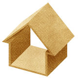 House 3D icon recycled papercraft Stock Image