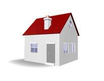 House 3D Real Estate Illustration Stock Images