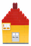 House. A house made of blocks Stock Photo