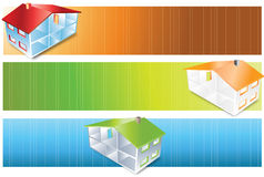 House. Vector abstract house book banner colourful blurred Stock Images