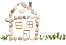 A house. Made from little stones Royalty Free Stock Photos