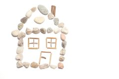 A house. Made from little stones Royalty Free Stock Images