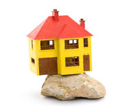 House. Miniature house model studio isolated Stock Photos
