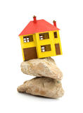 House. Miniature house model studio isolated Royalty Free Stock Photos