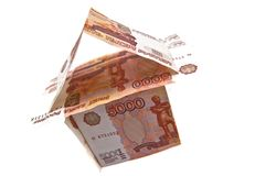 House of 5000 rubles banknotes Royalty Free Stock Photos